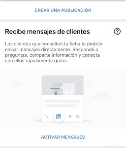 Activar mensajes en Google My Business 2018